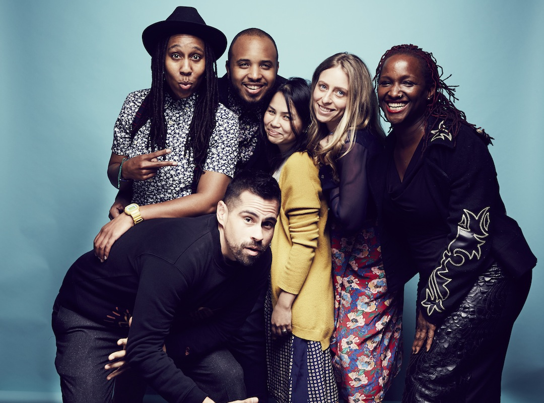 LOS ANGELES, CA - JANUARY 10: The cast of 'Dear White People' Angel Lopez, Ann Lee, Effie T Brown, Julia Lebedeb, Lena Waithe, Justin Simien and Chad Burris Nominee pose for a portrait at the 2015 Film Independent Spirit Awards Nominee Brunch at BOA Steakhouse on January 10, 2015 in Los Angeles, California. (Photo by Christopher Patey/Getty Images)