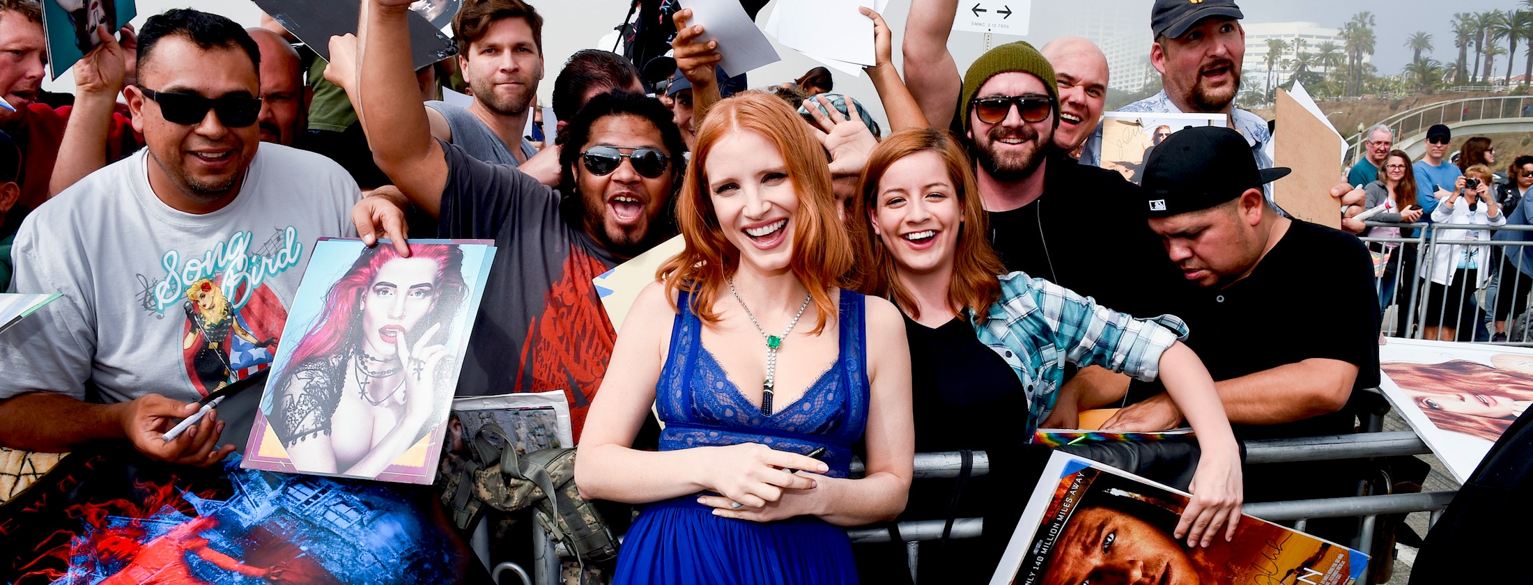 SANTA MONICA, CA - FEBRUARY 27:  (EDITORS NOTE: This image has been digitally altered.) Actress Jessica Chastain attends the 2016 Film Independent Spirit Awards on February 27, 2016 in Santa Monica, California.  (Photo by George Pimentel/WireImage)