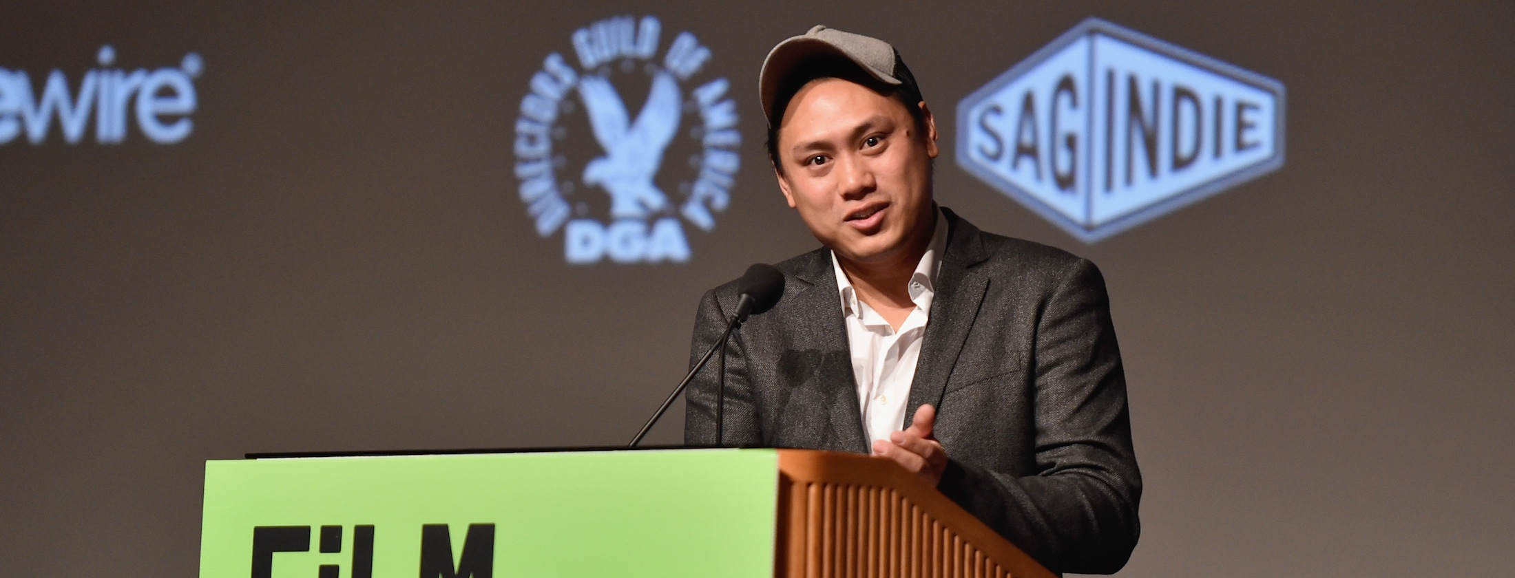 LOS ANGELES, CA - OCTOBER 24:  Director Jon M. Chu speaks onstage during day 1 of the 11th Annual Film Independent Forum at DGA Theater on October 24, 2015 in Los Angeles, California.  (Photo by Alberto E. Rodriguez/WireImage)