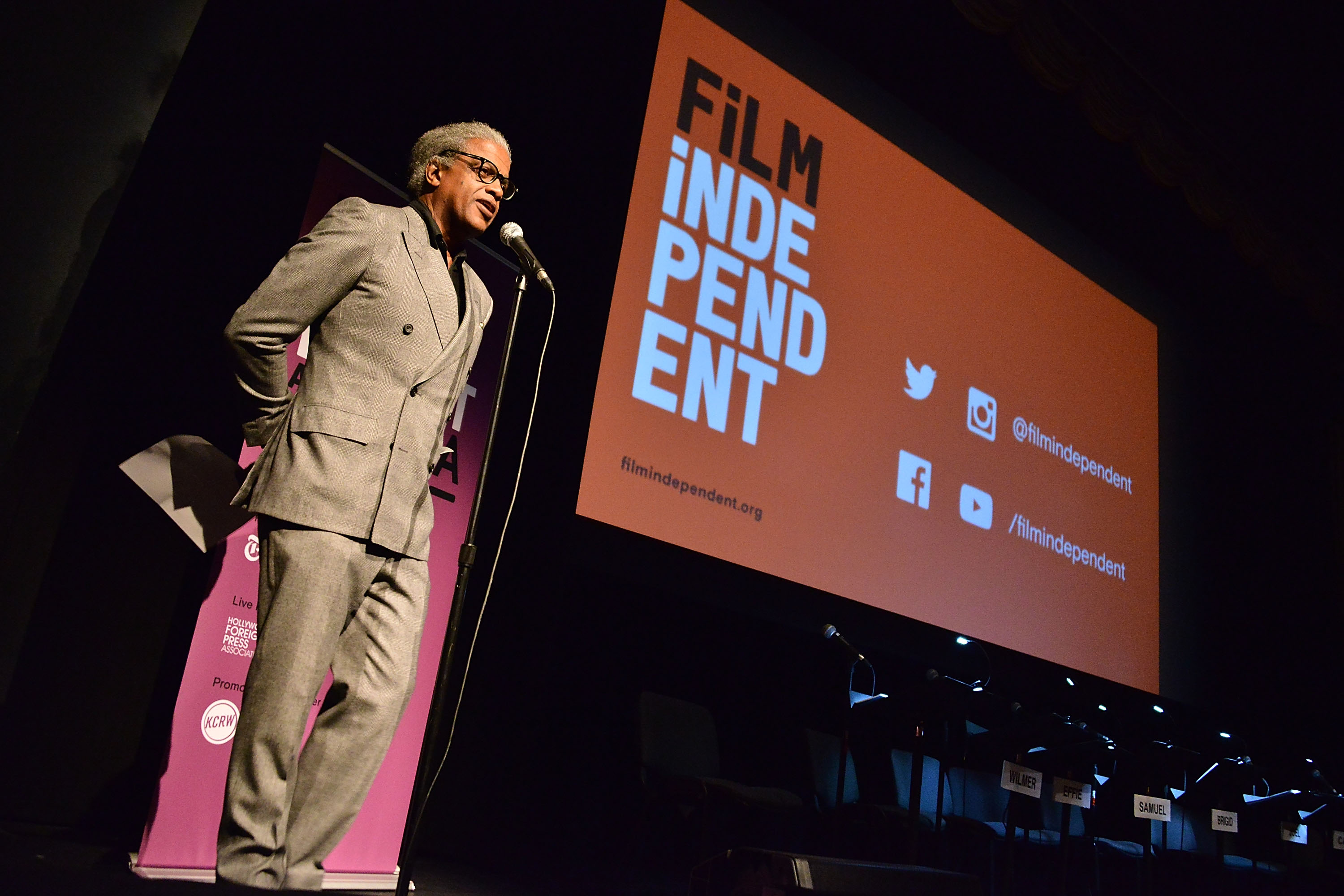 LOS ANGELES, CA - FEBRUARY 18: Elvis Mitchell attends the Film Independent at LACMA Live Read with guest director Laurence Fishburne at Bing Theatre At LACMA on February 18, 2016 in Los Angeles, California. (Photo by Araya Diaz/WireImage)