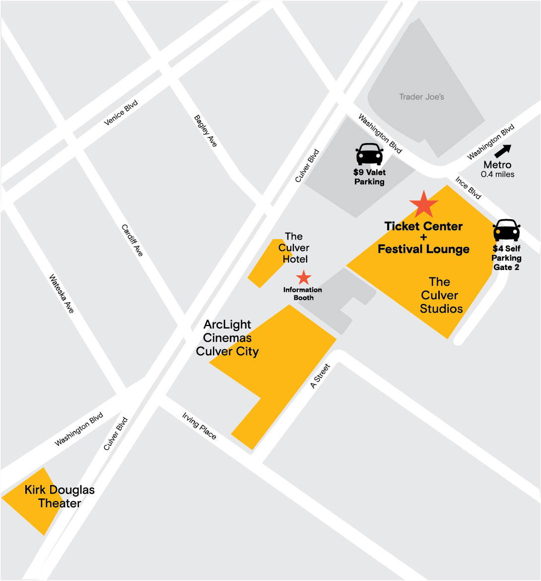 Venues  Parking Film Independent - Los angeles map culver city